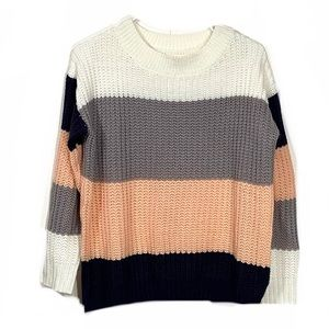 Urban Outfitters Knit Color Block Cropped Sweater